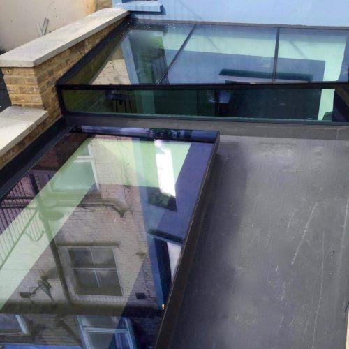 1st Folding Sliding Doors - Glass Roof