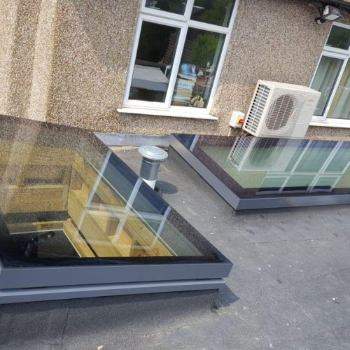 Electric opening rooflight