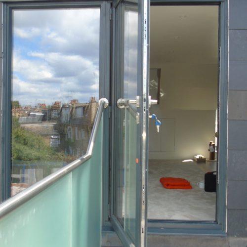 Loft glazing - 1st Folding sliding door