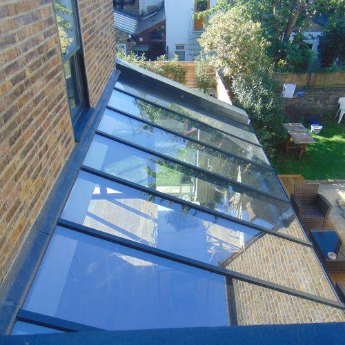 framed lean-too roof by 1st Folding Sliding doors