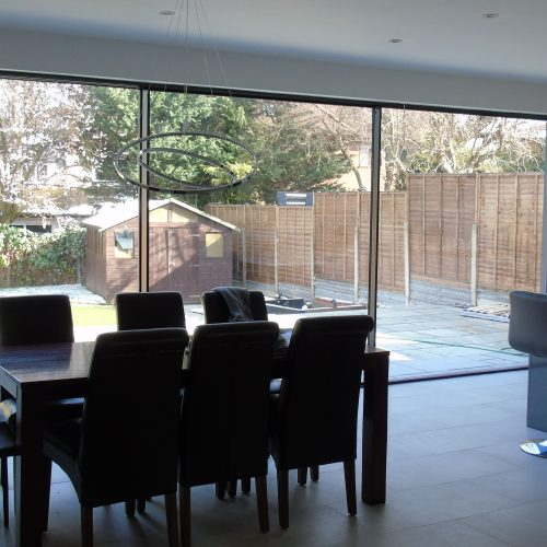 20mm virtually frameless sliding door