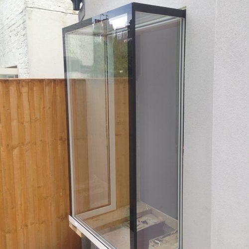 Glass box window seat
