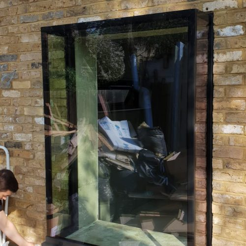 Glass window seat