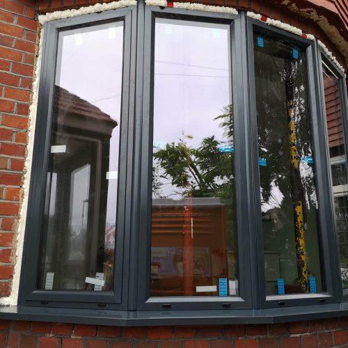 Bay window, window, aluminum