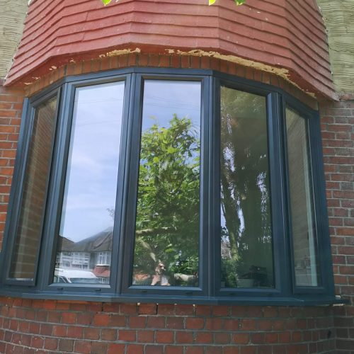 Aluminium bay window
