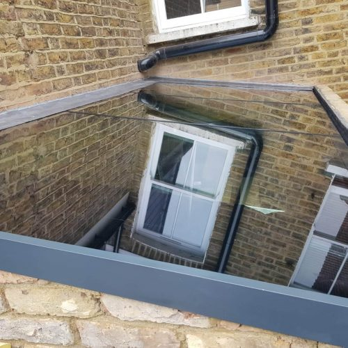 Glass Roof side return