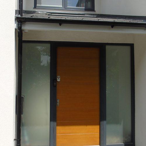 Aluminium frame and top hung window