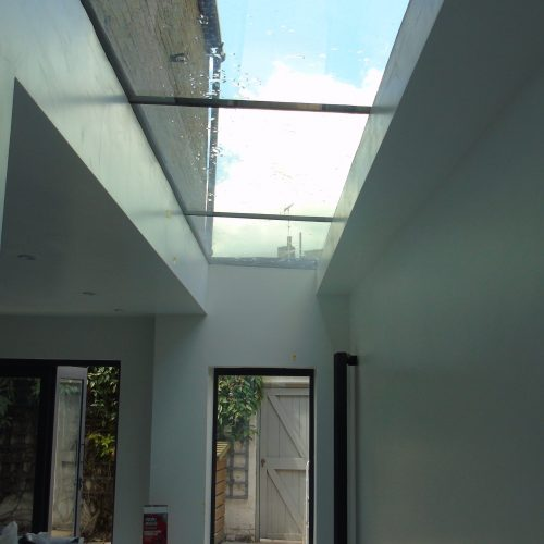 Frameless glass roof - 1st Folding Sliding Doors