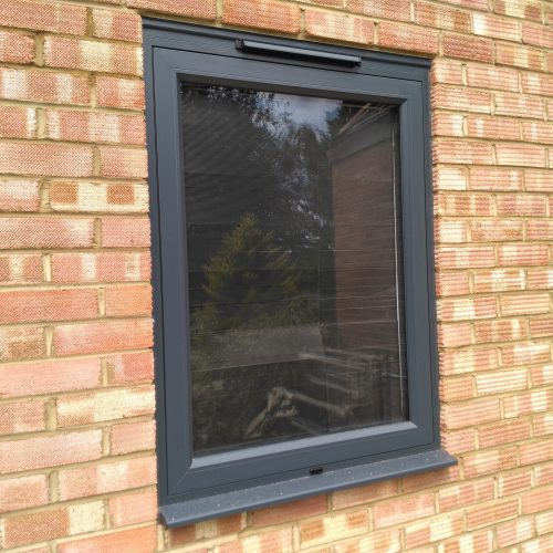Trickle vents with single window - 1st folding sliding doors