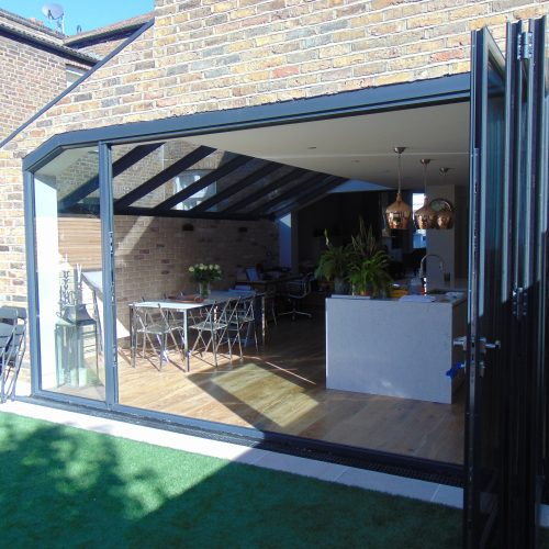 framed lean-too roof by 1st Folding Sliding doors