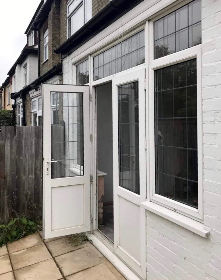 1st Folding Sliding Doors Rip out Before picture