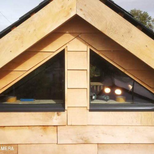 1st Folding Sliding Doors - Shaped window