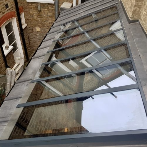 1st Folding Sliding Doors - Slated Roof Light