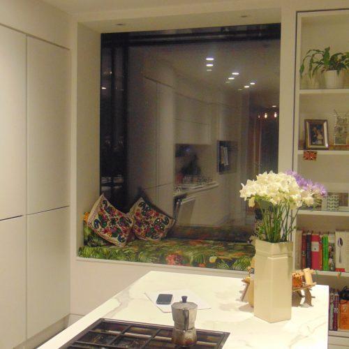 Glass window seat - 1st Folding Sliding Doors