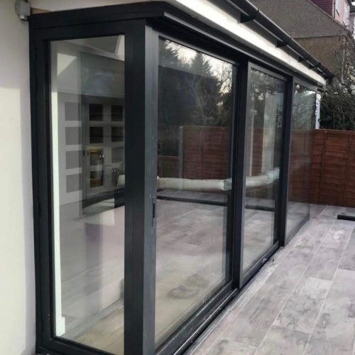83 mm sliding door, 90 degree moving corner post - 1st Folding Sliding Doors